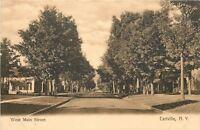 Earlville New York~West Main Street~Neighborhood Homes~1910 Sepia Postcard