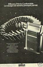 Publicité advertising 1979 Le rasoir électrique Braun
