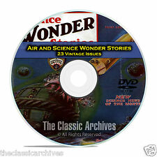 Air and Science Wonder Stories, 23 Vintage Pulp Magazine Science Fiction DVD C36