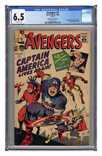 Avengers #4 Reprint, CGC 6.5 with off-white pages.