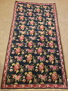 Antique-Armanian-Hand-Woven-Bessarabian-Karabagh Rug -3x6ft