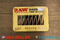 """RAW Tray for Rolling Papers Metal Style Cigarette Hemp Rolling Tray 7""""x5"""""""