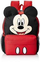 """12"""" Disney Mickey Mouse Face School Backpack with Ears"""