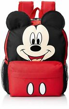 "12"" Disney Mickey Mouse Face School Backpack with Ears"