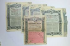 EMPRUNT IMPERIAL RUSSE OBLIGATION 937.50 + 1875 ROUBLES 5% 1906 X 5 ACTIONS