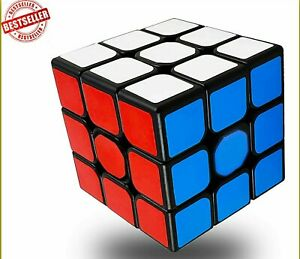 Rubiks Cube 3x3 Original Brain Teaser Puzzle Strategy w/ Stand