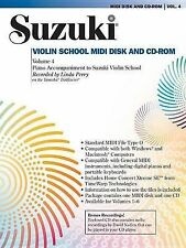 Suzuki Violin School, Vol 4: General MIDI Disk CD-ROM by Linda Perry...