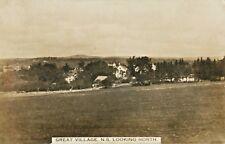 A View Of Great Village, Nova Scotia NS Canada RPPC