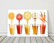fresh juice pours kitchen picture canvas print framed picture wall art