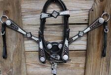Rhinestone Runway Western Bling Tack Set w/ Cowhide Headstall & Breast Collar