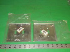 Lot of 2 Leviton 84109-40 Steel Face Plate Oversized 2Gang 2Toggle 8410940