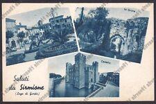 BRESCIA SIRMIONE 70 SALUTI da... VEDUTINE - CASTELLO - GROTTE Cartolina 1939