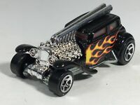 Hot Wheels 2007 Straight Pipes Black w/ Flames HW New Models Series Loose