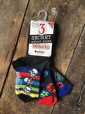 Kids Odd Socks, Skull and Crossbone, 3 Pack,