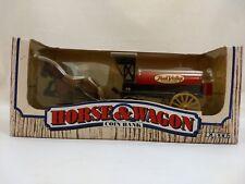 ERTL #7624 True Value Hardware Horse Drawn Wagon 1990 Diecast Locking Coin Bank