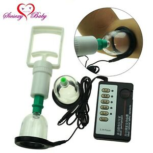 Electro Shock Breast Nipple Vacuum Enhancer E-Stim Pump Enlarger Cup Pulse Kit