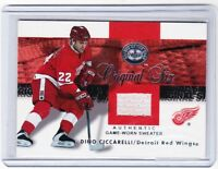 01-02 2001-02 FLEER GREATS OF THE GAME DINO CICCARELLI JERSEY ORIGINAL SIX WINGS