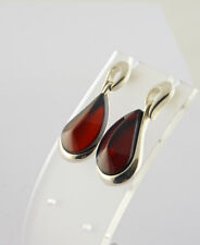 Baltic Amber Drop Earrings set in 925 Sterling Silver