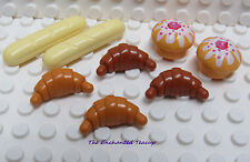 NEW Lego Minifig Food LOAF of LIGHT BROWN FRENCH BREAD Med Flesh Baguette//Roll
