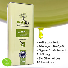 Olivenöl Bio 5Liter Kanister Organic aus Kreta,Extra natives,Ernte 2020,MHD 5/22