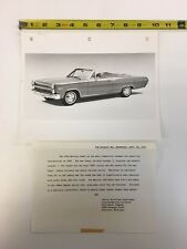 1966 Caliente Convertible  Official Mercury Press Photo with  Documentation