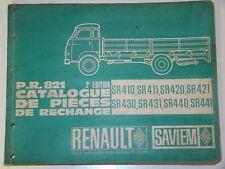 Catalogue pièces RENAULT SAVIEM PR 821 2eme édition 11/66