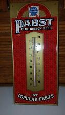 Vintage Pabst Blue Ribbon Beer Thermometer Sign Pbr