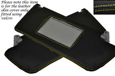 YELLOW STITCH 2X SUN VISORS COVERS FITS VAUXHALL OPEL HOLDEN VECTRA C SIGNUM