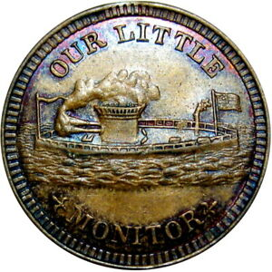 1863 Our Little Monitor Patriotic Civil War Token