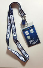 Doctor Who TARDIS Bad Wolf Lanyard with 3D TARDIS Charm- Underground Toys
