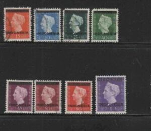 INDONESIA #294-303 1948 QUEEN WILHELMIA F-VF USED