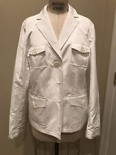 NWT Brooks Brothers White taffeta Blazer Org $298 BEAUTIFUL!