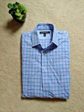 Banana Republic Men's Dress Shirt Small Plaid Slim Fit Non-Iron Tailored S BR