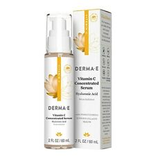 Derma E Vitamin C Concentrated Serum Hyaluronic Acid 2 fl oz 60 ml Cruelty-Free,