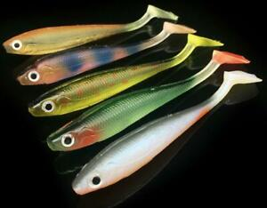 "20PCS Soft Fish Fishing Lure 3.54""/5g Jigs Rubber Bait Soft Tail Worm PVC Lures"