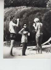 Princess Margaret has a drink on the beach with friends 3/9/78- Press Photo