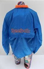 Vintage 90s Reebok Full Zip Vented Blue Windbreaker Track Jacket Size M