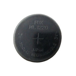 New Genuine FDK ML1220 Rechargeable LITHIUM-ION BIOS 1220 3V CMOS Battery