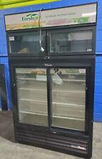 True Gdm-41Sl-54 Slide Door Cooler W/ Mtl Cool Ddf-90 Overhead Freezer Combo