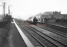 PHOTO  GWR CREECH ST MICHAEL RAILWAY STATION 1961 VIEW WITH A PANNIER TANK WORKI