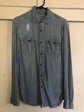 Uniqlo men's denim shirt size S light long sleeve