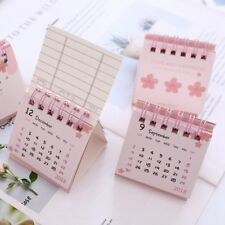 2019 Cute Cherry Blossoms DIY Mini Portable Desk Calendar Daily Schedule Planner