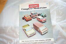 Showroom brochure 71 GMC Full Line NOS 10-90 series Pickup Blazer Van big trucks