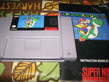 Super Nintendo Super Mario World Game with Manual tested