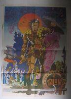 RARE Steranko TALON Poster Jim STERANKO from Comixscene #5 Marvel Supergraphics