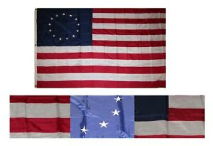 6x10 Embroidered Sewn Betsy Ross Historical Nylon Flag 6'x10' Grommets 300D