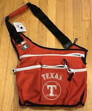 DIAPER DUDE MLB Texas Rangers Red Messenger DIAPER BAG NWT FREE SHIPPING