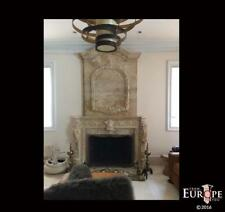 Monumental Hand Carved Marble Fireplace Mantel Fgd030