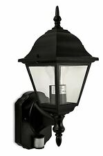 Nartel - Black Wall Lantern with PIR - 8571