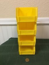 4-Pack Plastic Stackable Tool/Supply Small Storage Container Box Bin Yellow